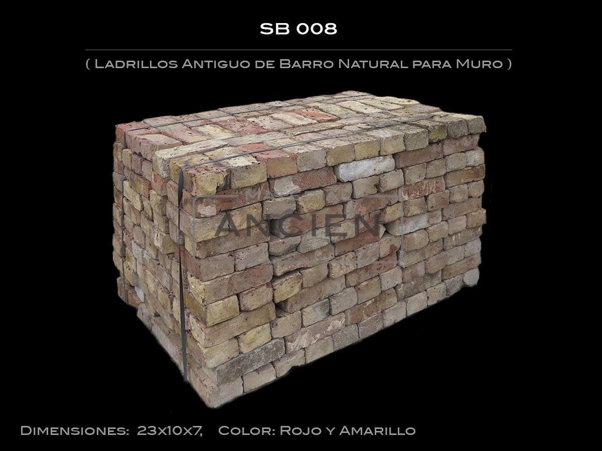 Ladrillos Antiguo de Barro Natural para Muro  SB 008