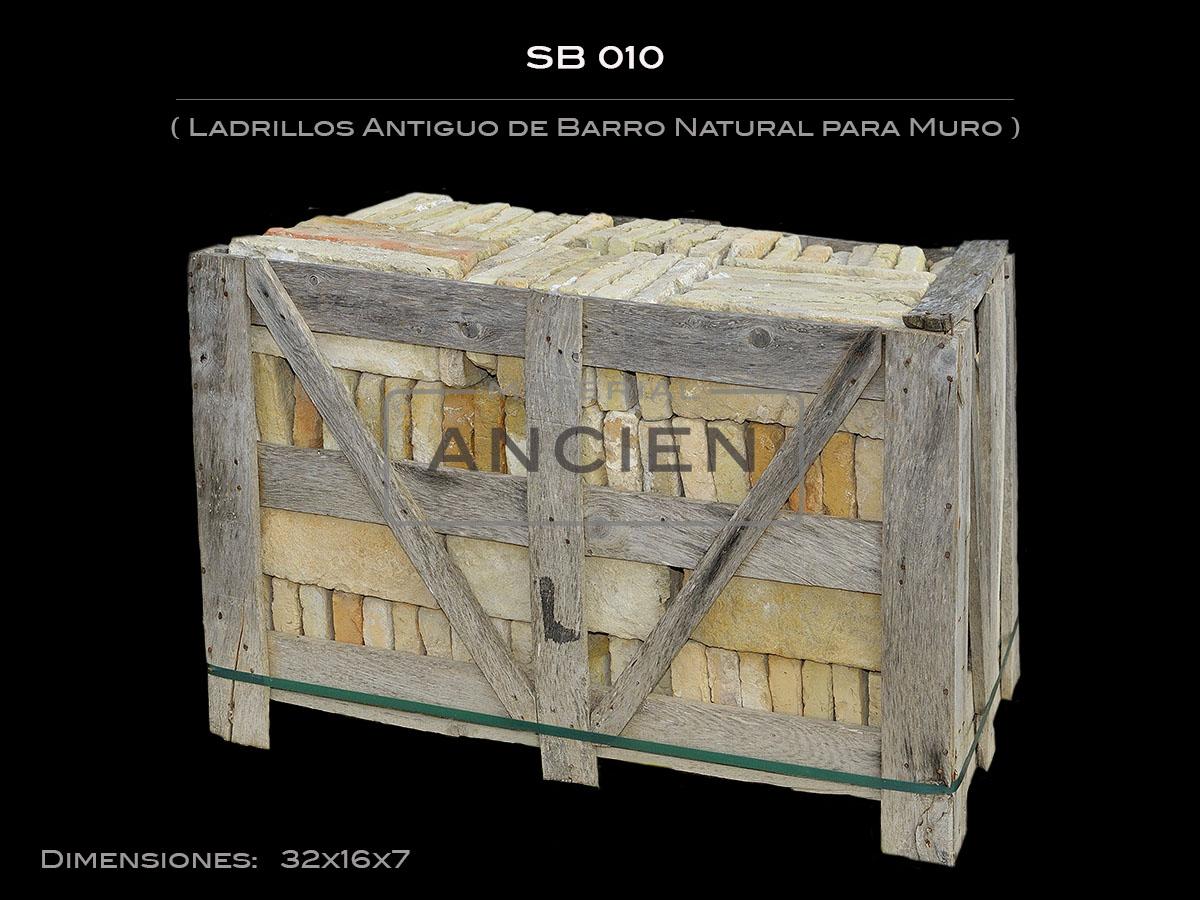 Ladrillos Antiguo de Barro Natural para Muro SB 010