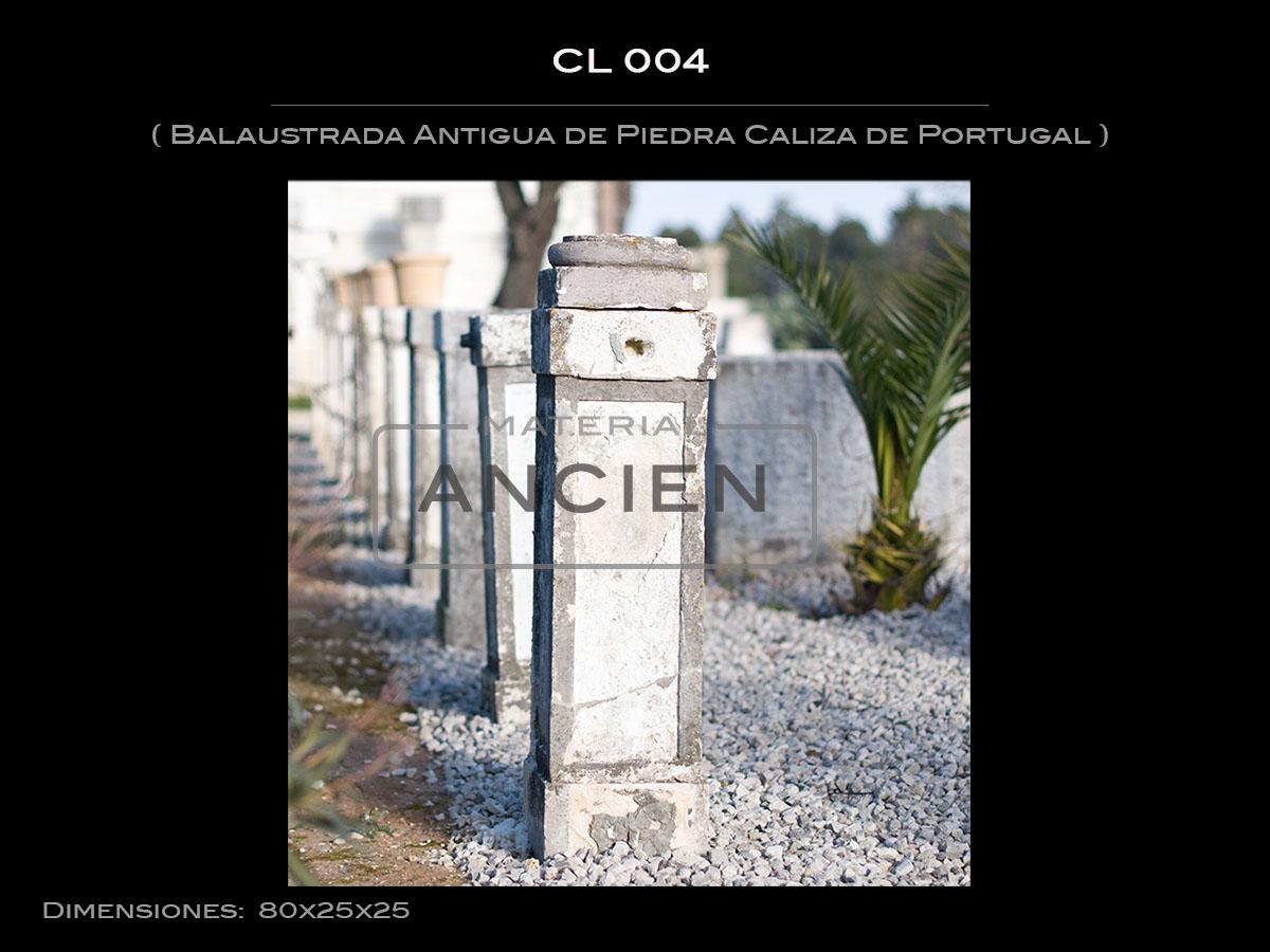 Balaustrada Antigua de Piedra Caliza de Portugal CL-004