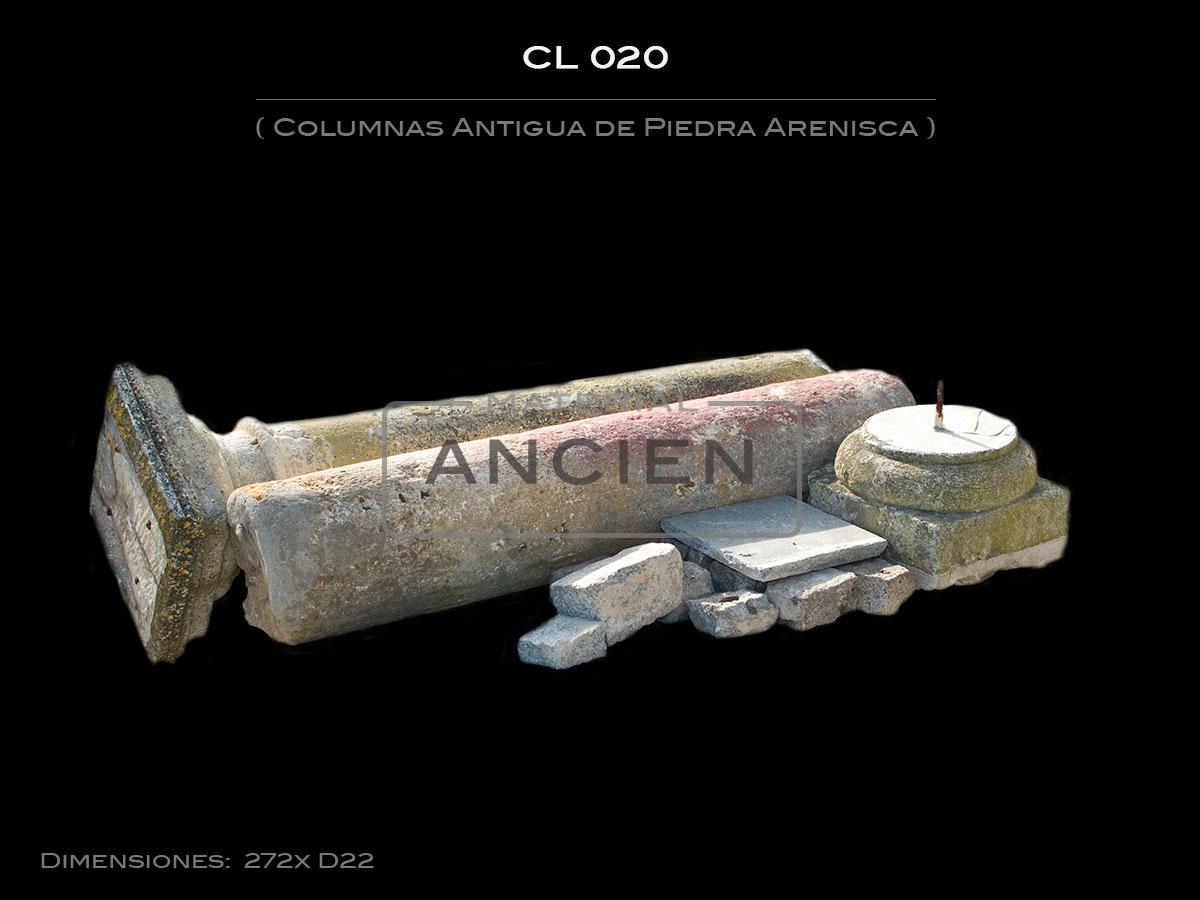 Columnas Antigua de Piedra Arenisca CL 020