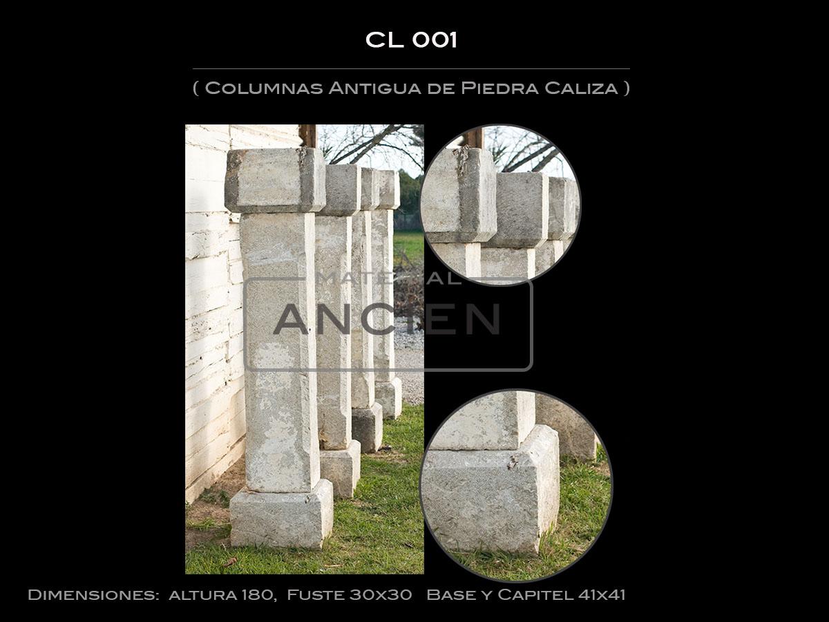 Columnas Antigua de Piedra Caliza CL-001