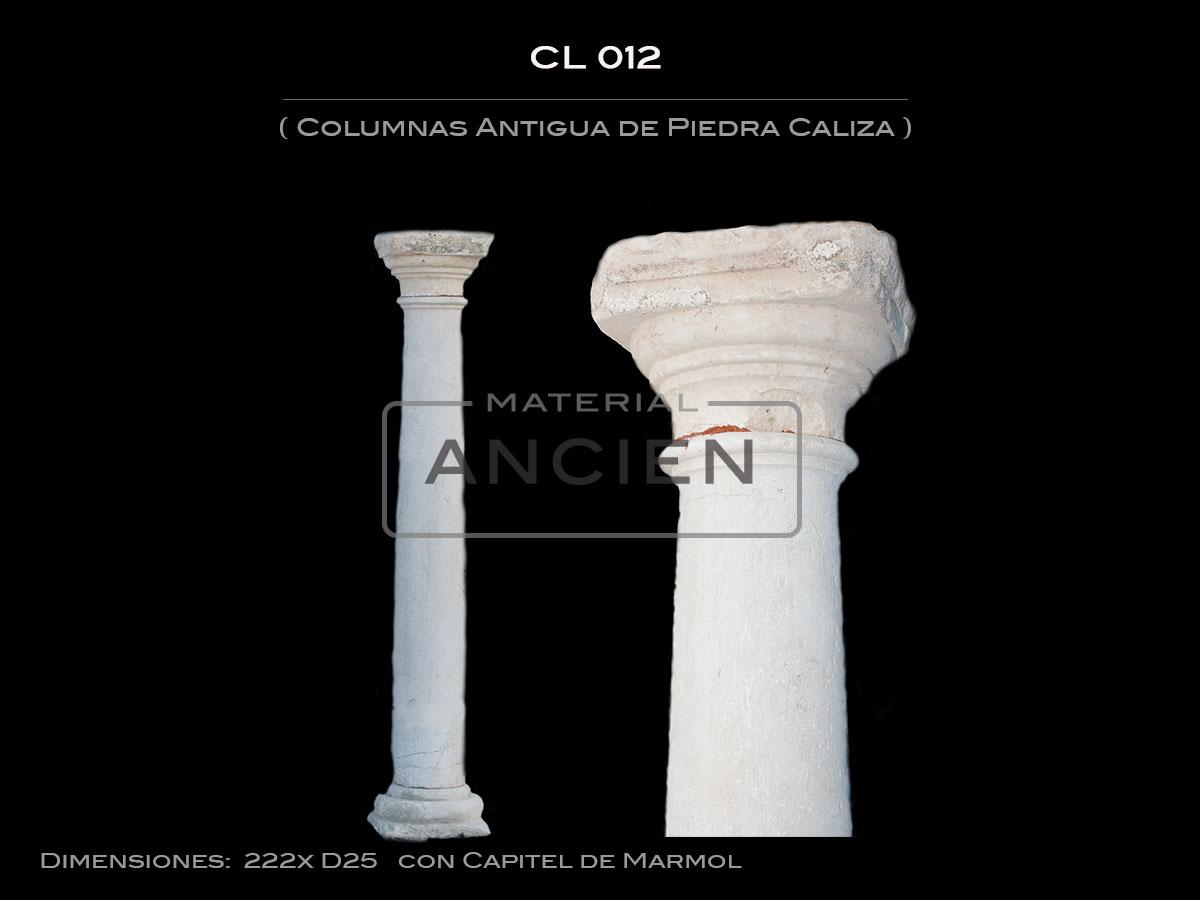 Columnas Antigua de Piedra Caliza CL-012 2