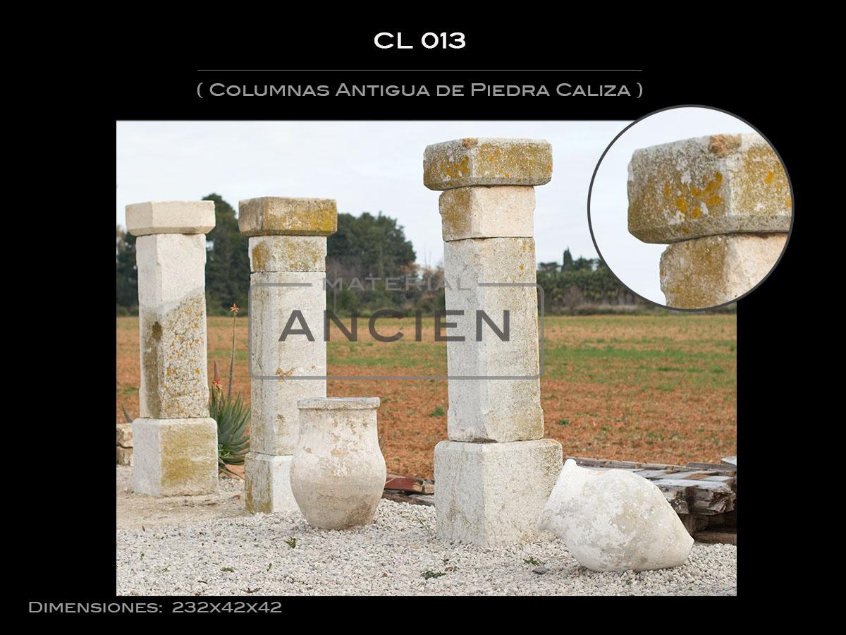 Columnas Antigua de Piedra Caliza CL-013