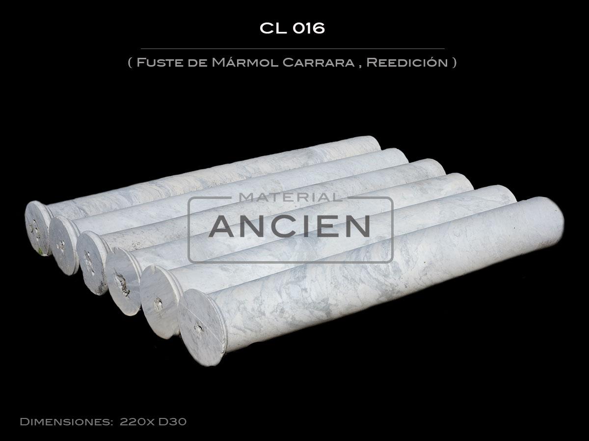 Fuste de Mármol Carrara CL 016