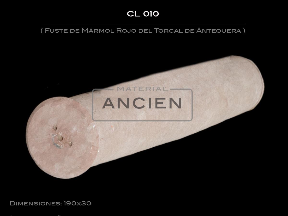 Fuste de Mármol Rojo del Torcal de Antequera CL 010