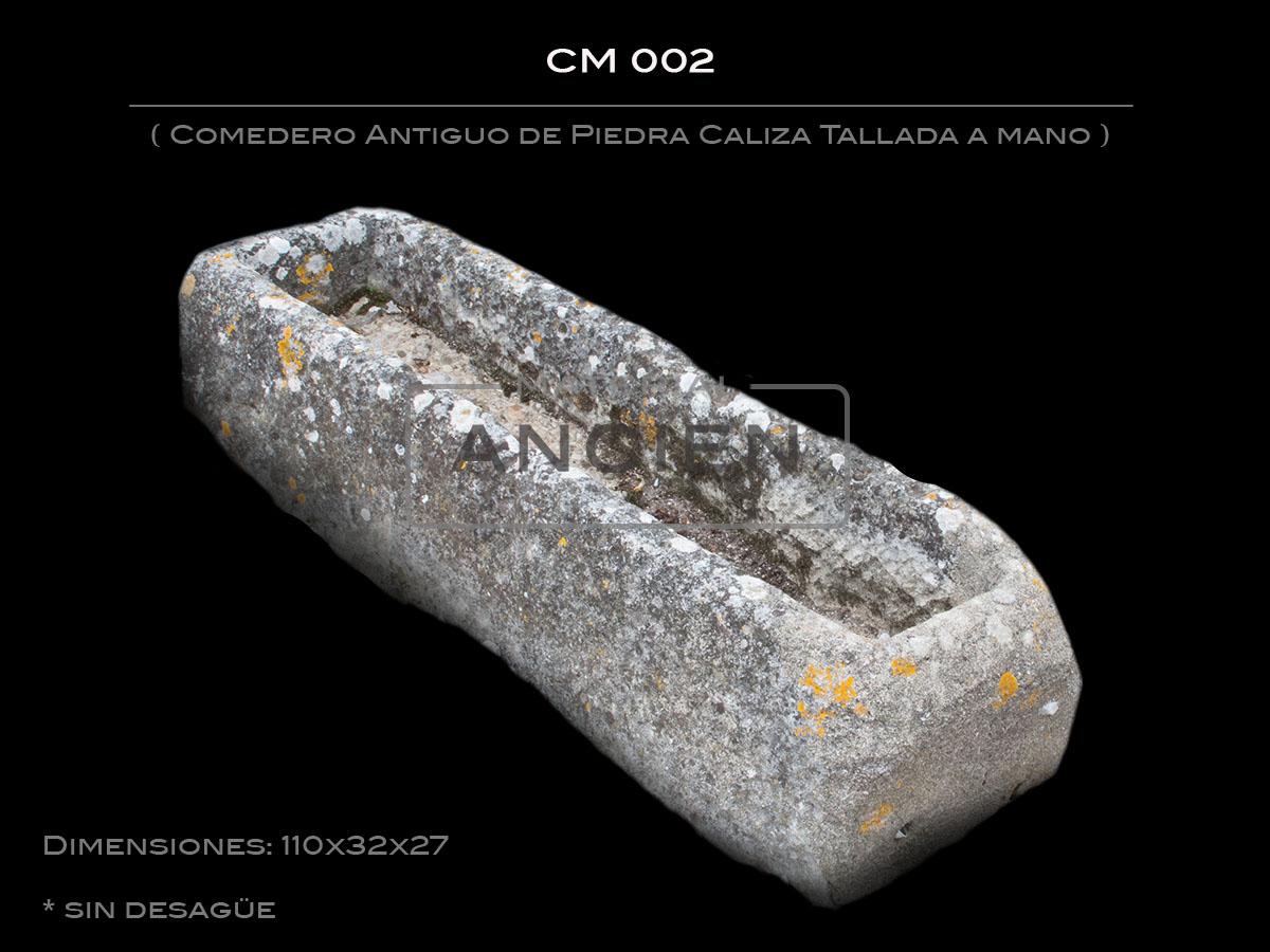Comedero Antiguo de Piedra Caliza Tallada a mano CM 002