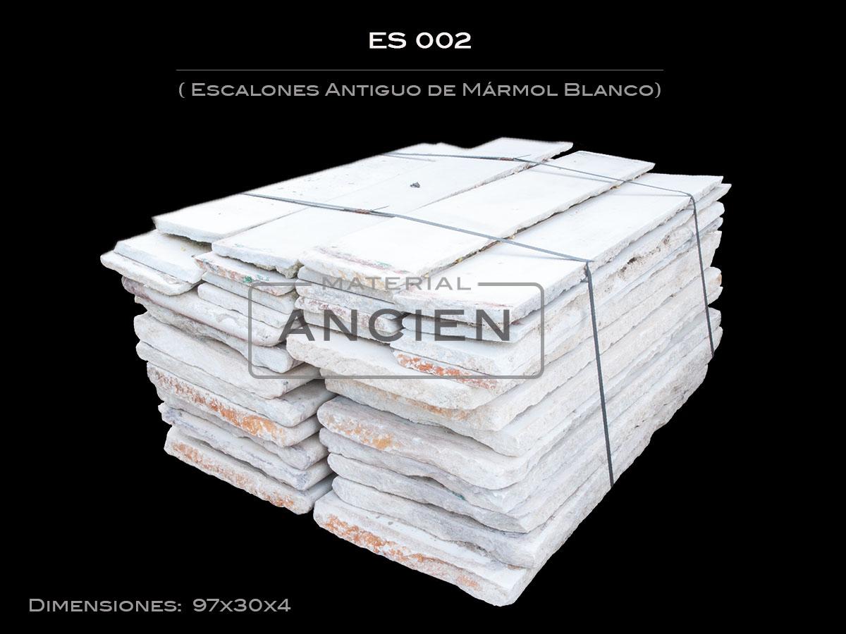 Escalones Antiguo de Mármol Blanco ES002
