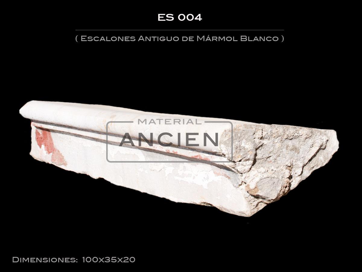 Escalones Antiguo de Mármol Blanco ES004