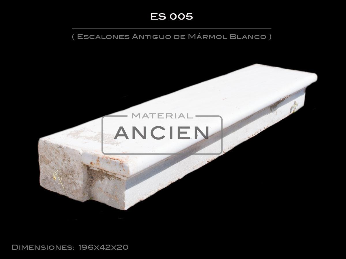 Escalones Antiguo de Mármol Blanco ES 005