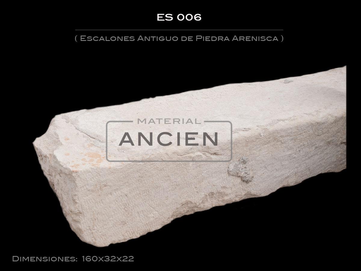 Escalones Antiguo de Piedra Arenisca ES 006
