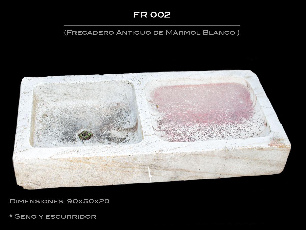 Fregadero Antiguo de Mármol con seno y escurridor FR 002