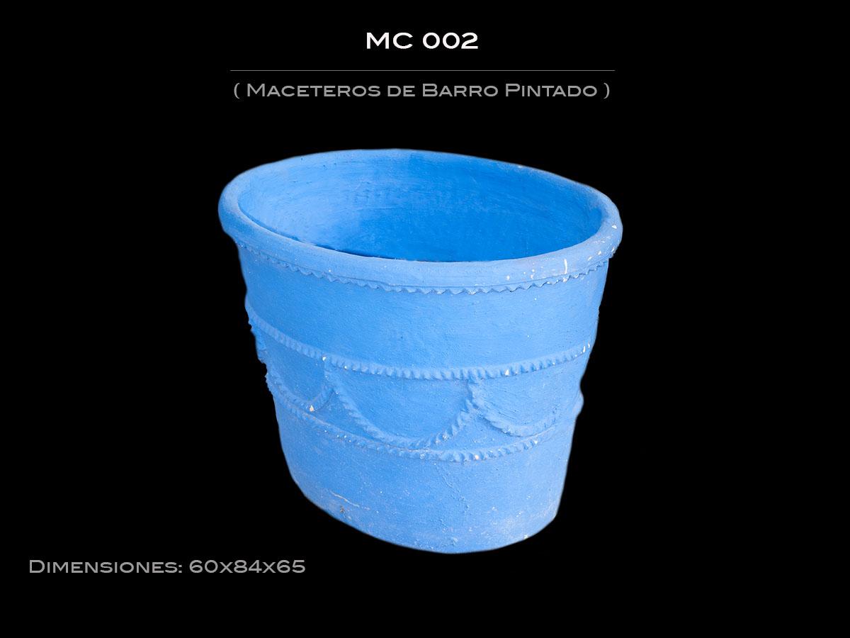 Maceteros de Barro Pintado  MC 002