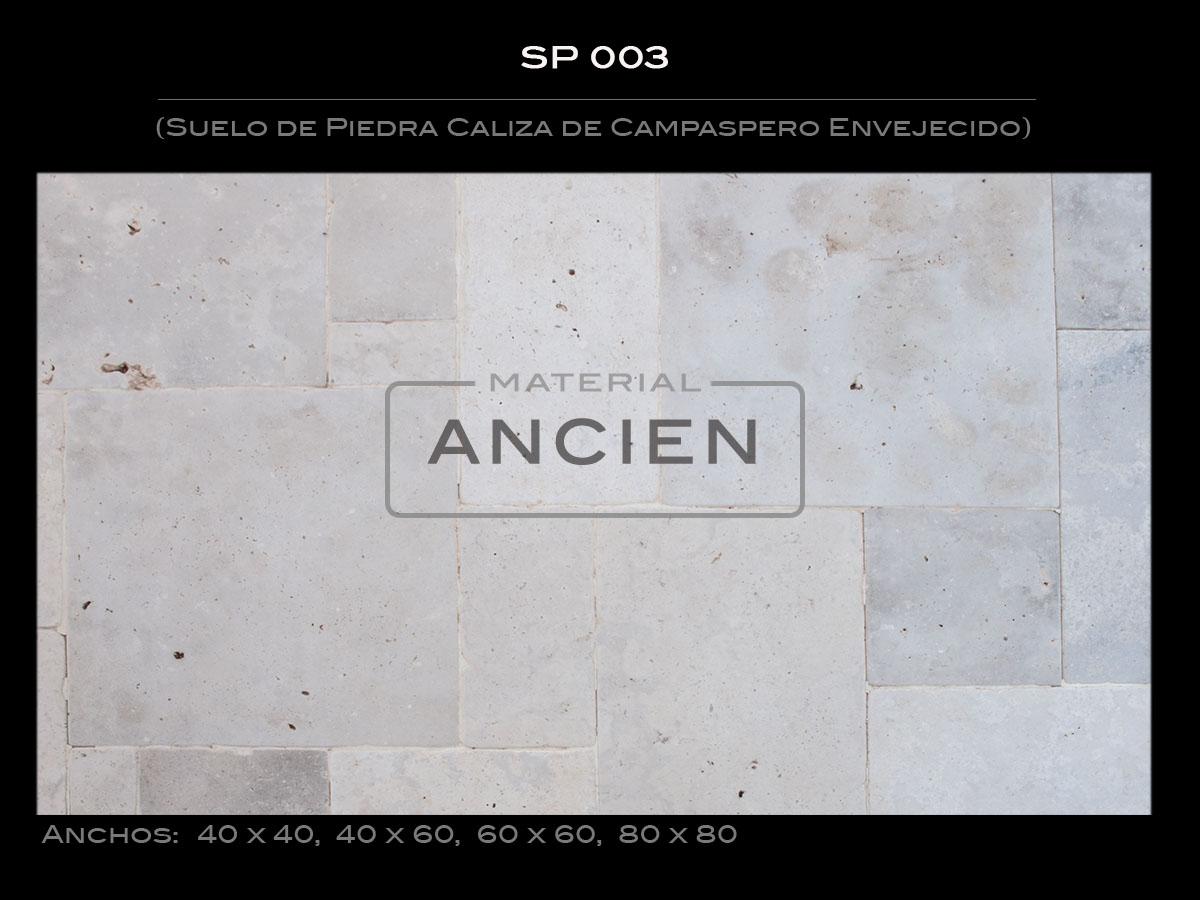 Suelo de Piedra Caliza de Campaspero Envejecido SP 003