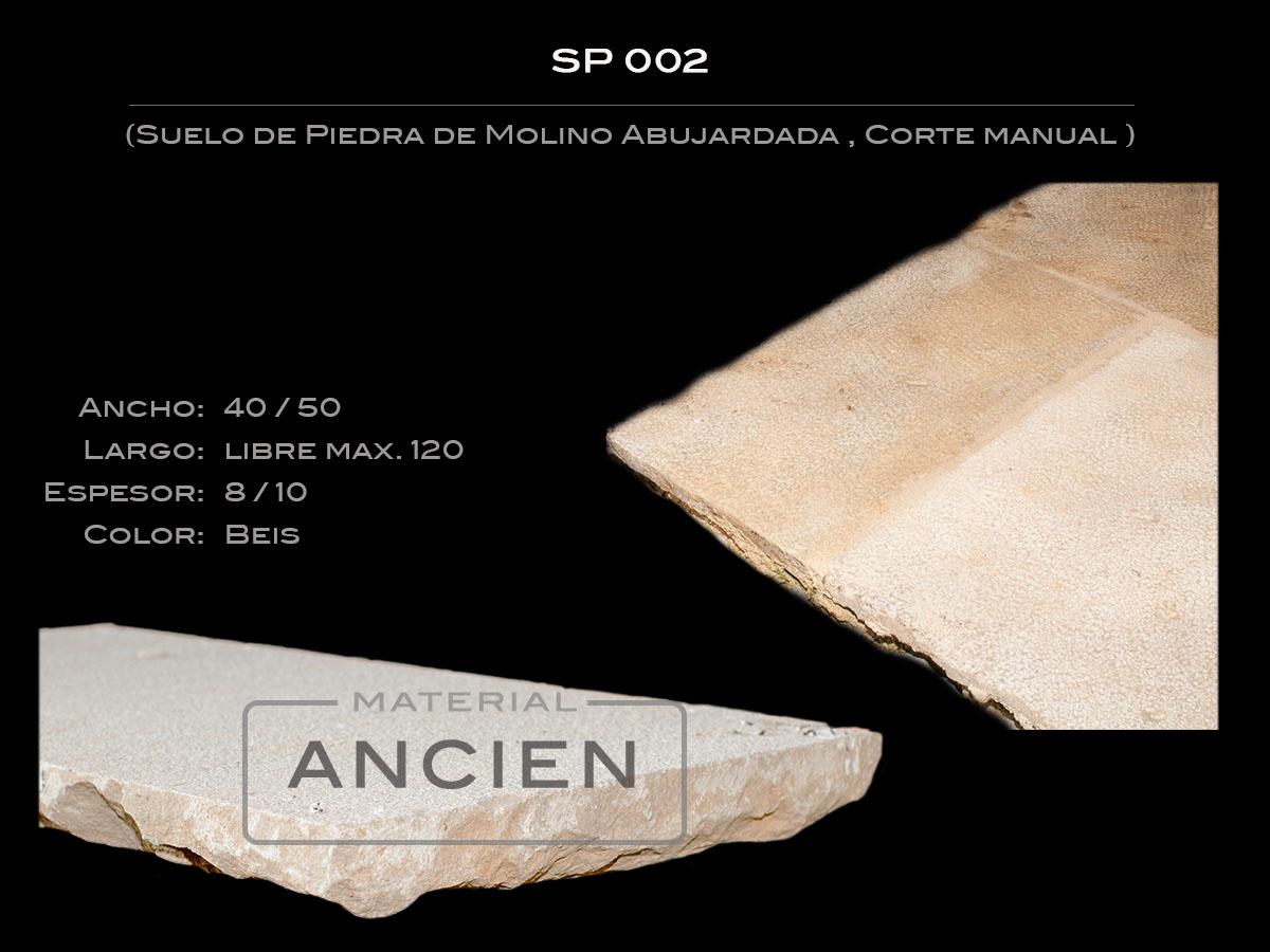 Suelo de Piedra de Molino Abujardada SP 002