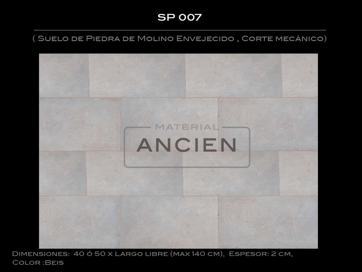 Suelo de Piedra de Molino Envejecido , Corte mecánico SP 007