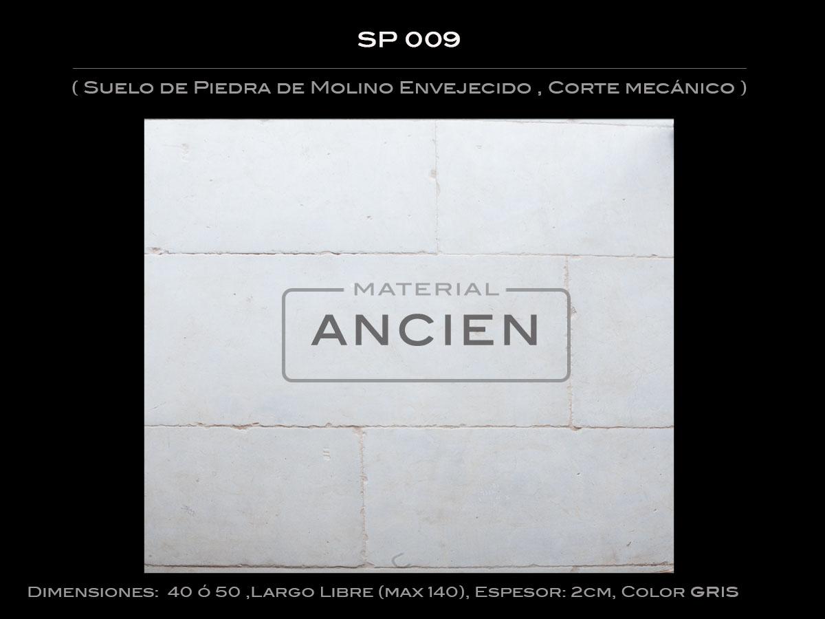 Suelo de Piedra de Molino Envejecido , Corte mecánico SP 009