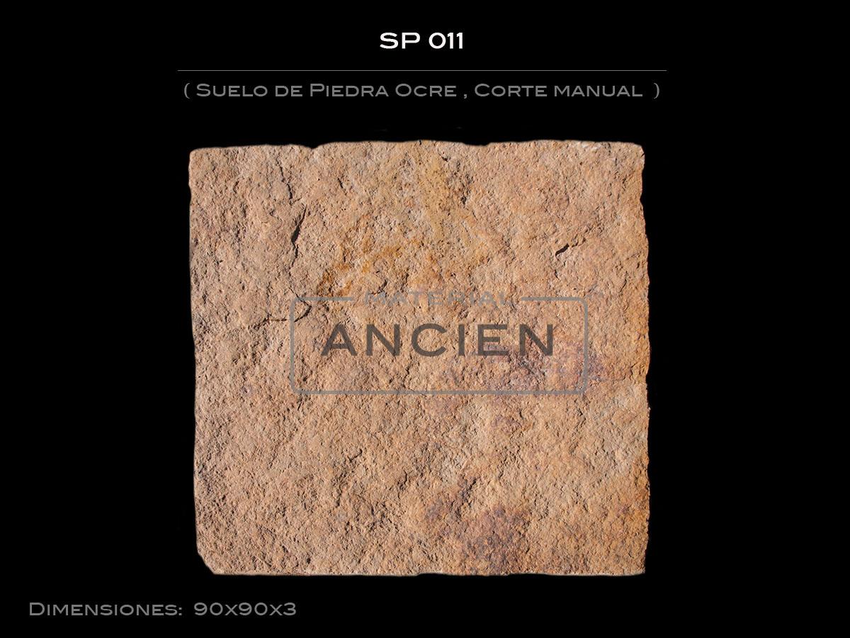 Suelo de Piedra Ocre , Corte manual SP 011