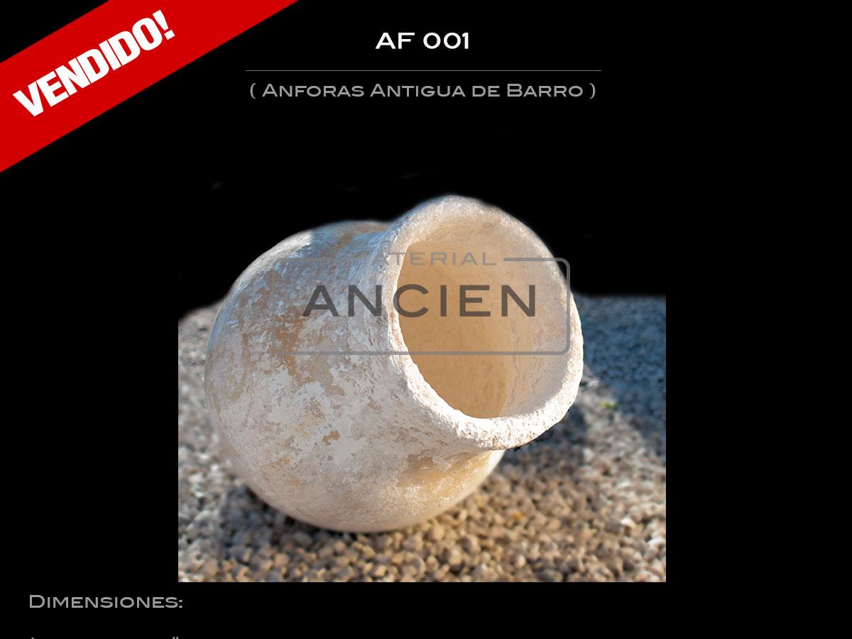 Anforas Antigua de Barro  AF 001