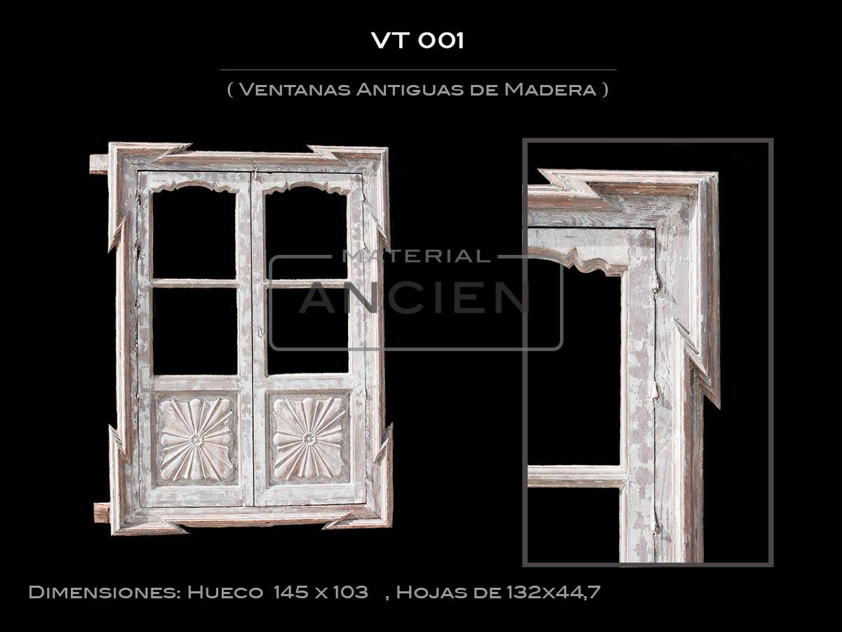 Ventanas Antiguas de Madera VT 001